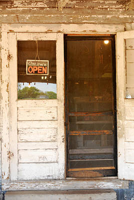 Photograph - Door To A Country Store by Connie Fox