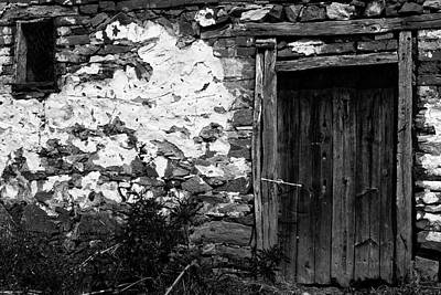 Photograph - Door  Window And The Wall  by Cliff Norton