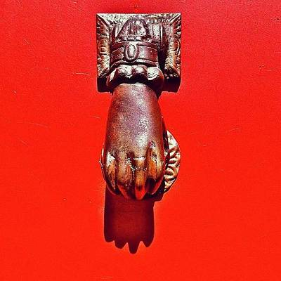 Colorful Photograph - Doorknocker by Julie Gebhardt