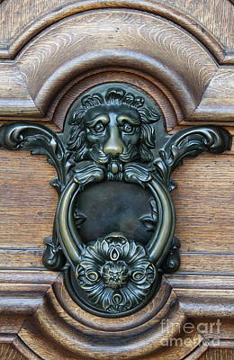 Bronce Photograph - Doorknocker Lionshead by Christiane Schulze Art And Photography