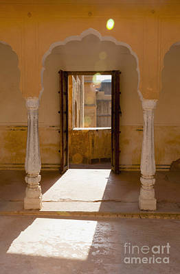 Doorway And Arch In The Amber Fort Print by Inti St. Clair