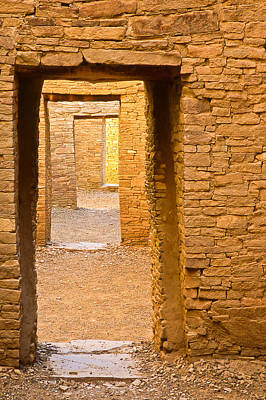 Cory Photograph - Doorway Chaco Canyon by Tom and Pat Cory