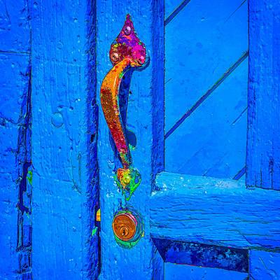 Doorway To Santa Fe Art Print by Ken Stanback