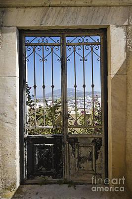 Doorway To Santorini Art Print by Dennis Hedberg