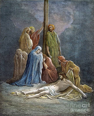 Drawing - Christ Dead by Gustave Dore