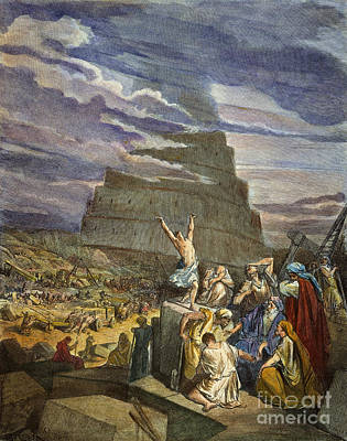 Tower Of Babel Gustave Dore Wall Art - Photograph - Dor�: Tower Of Babel by Granger