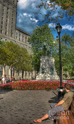 Photograph - Dorchester Square Boer War Memorial by Lee Dos Santos
