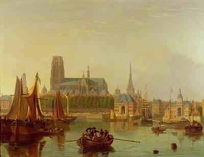 City View Painting - Dordrecht  by Joseph F Ellis