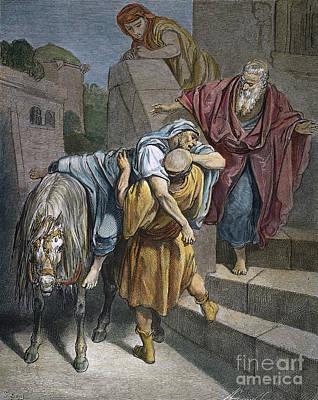Dore: Good Samaritan Art Print by Granger