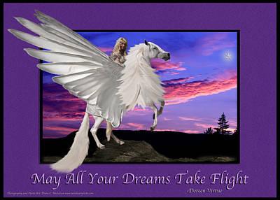 Photograph - Doreen Virtue Inspirational Art Print Dreams by Diane C Nicholson