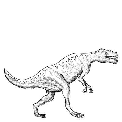 Dorkosaurus - Dinosaur Art Print by Karl Addison