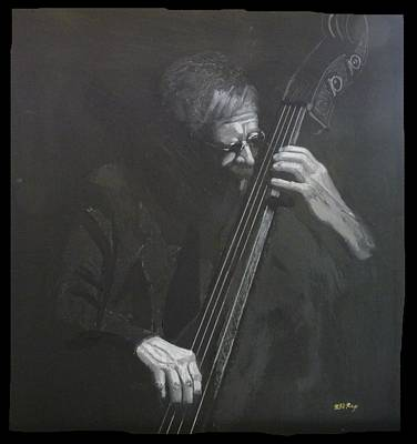 Painting - Double Bass Player by Richard Le Page