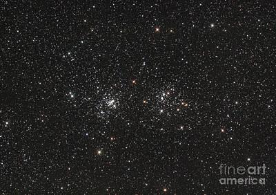Double Cluster In Perseus Ngc 869 Art Print by Philip Hart