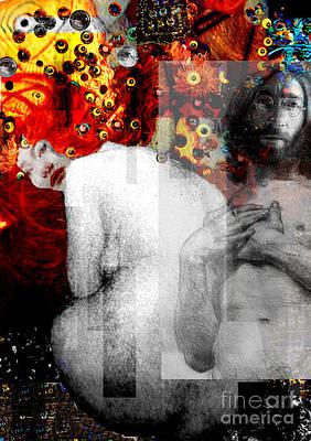 Photograph - Double Fantasy John Lennon Yoko Ono Nude by Karine Percheron-Daniels