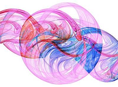 Digital Art - Double Helix by Yali Shi