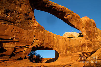 Double O Arch Photograph - Double O Glow by Adam Jewell