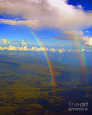Photograph - Double Rainbow Flying Over Florida Everglades by Merton Allen