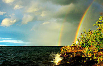 Double Rainbow Over Point Abbaye Original