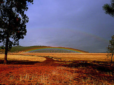 Double Rainbow Ridge Art Print by Cindy Wright