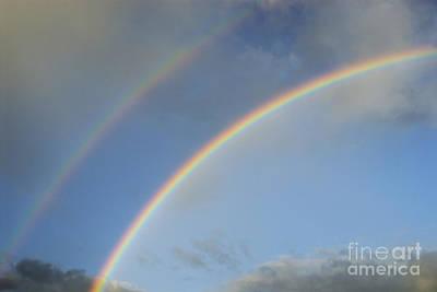 Double Rainbow Art Print by Sami Sarkis