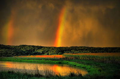 Photograph - Double Reflection Rainbow by Emily Stauring