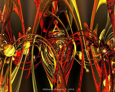Abstract Digital Art - Double Side Of Abstract Fx  by G Adam Orosco