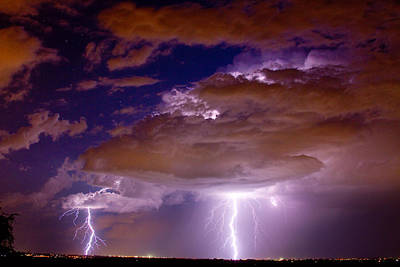 Double Trouble Lightning Strikes Art Print by James BO  Insogna