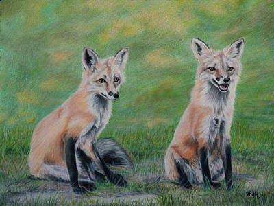 Drawing - Double Trouble by Vicky Path