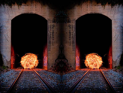 Photograph - Double Tunnel On Fire by Joye Ardyn Durham