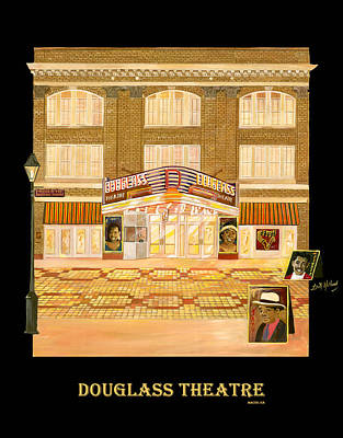 Douglass Theatre Print by Leah Holland