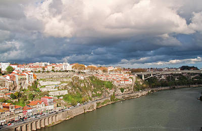 Douro River And Old Town Of Porto Art Print