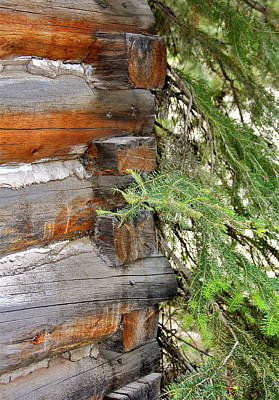 Photograph - Dovetail Log Construction by Karon Melillo DeVega