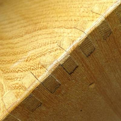 Dovetail #wood #woodworking #texture Art Print