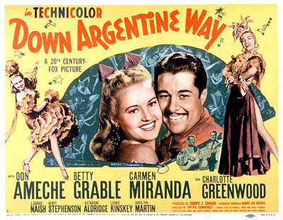 Posth Photograph - Down Argentine Way, Betty Grable, Don by Everett