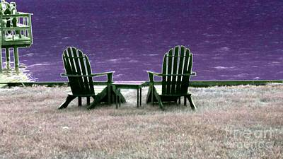 Digital Art - Down By The Lake by Angela L Walker