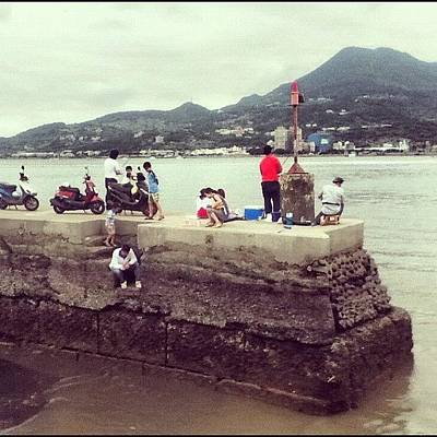 Photograph - Down On The #danshui #river. #taipei by Angela Shipley
