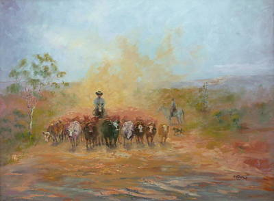 Marie Green Painting - Down The Barcoo II by Marie Green