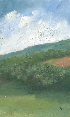 Oil Landscape Painting - Downland And Trees by Alan Daysh