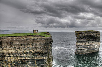Downpatrick Head Lookout Tower Art Print by Marion Galt