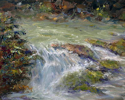 Marie Green Painting - Downstream by Marie Green