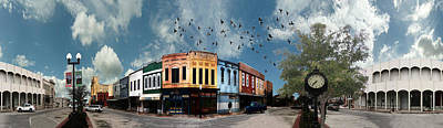 Downtown Bryan Texas 360 Panorama Art Print by Nikki Marie Smith