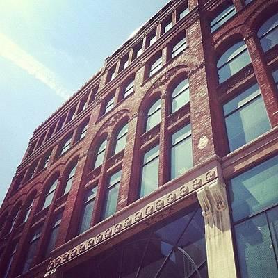 Angle Photograph - #downtown #buffalo #brick #building by Jenna Luehrsen