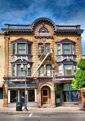 Finger Lakes Photograph - Downtown Building IIi by Steven Ainsworth