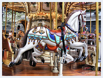 Downtown Carousel Art Print