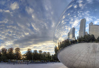 Windy Photograph - Downtown Chicago At Dawn by Twenty Two North Photography