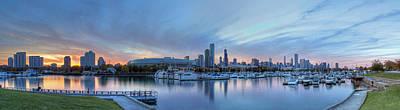 Downtown Chicago From Burnham Harbor Art Print
