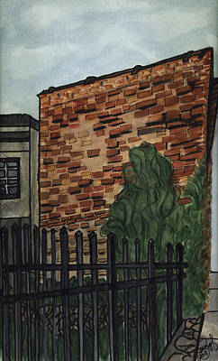 Art Print featuring the painting Downtown Greer by Joan Zepf