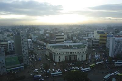 Nairobi Photograph - Downtown Nairobi, Kenya by Stephen Alvarez