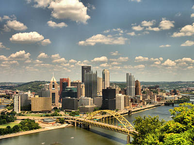 Downtown Pittsburgh Photograph - Downtown Pittsburgh Hdr by Arthur Herold Jr