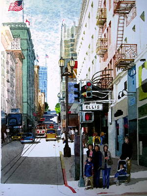 Sanfrancisco Painting - Downtown San Francisco by V  Reyes